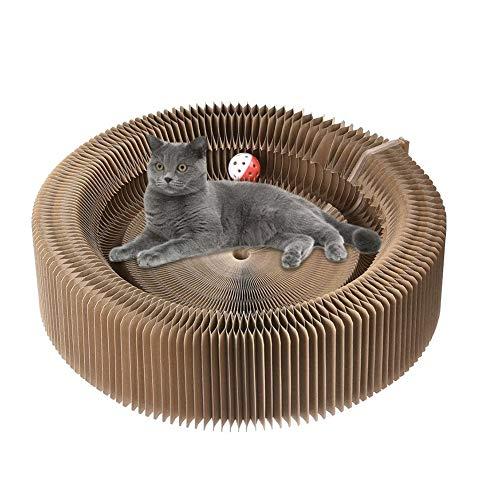 Dongbin Katze Kratzen Platte aus Pappe - Verformungsplatte aus schalenförmigem Katzenspielzeug, Faltbare Schleifklaue,Juckreiz Werkzeug