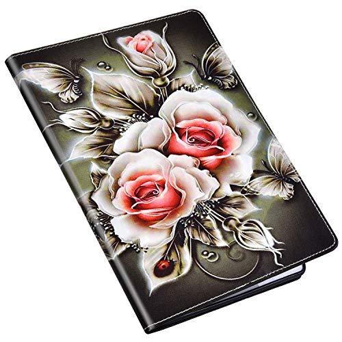 Qpolly - Funda tipo cartera para Samsung Galaxy Tab A 10.1 2019 SM-T510/T515, 9 Une rose