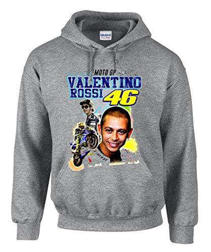 zagorka 46 The Doctor Valentino Rossi Moto Motorbike Motorcycle Hooded Sudaderas con Capucha – 3004
