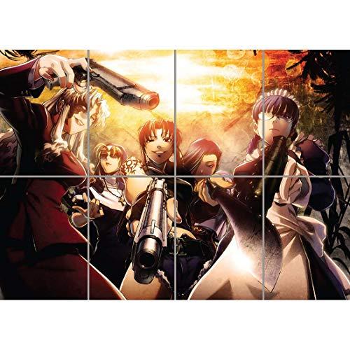 Doppelganger33 LTD Black Lagoon Anime Manga Unique Wall Art Multi Panel Poster Print 47x33 inches