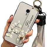 Funda funcional de TPU Lulumi con cordón compatible con Meizu M3 Note, soporte para niñas para mujer, impermeable, para hombre, antigolpes, diseño elegante, orquídea blanca