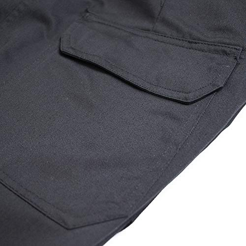Lee Cooper Mens Classic Workwear Pant Cargo Trouser Black 34W/31L (Regular)