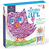 Craft-tastic – String Art Kit – Craft Kit Makes 3 Large String Art Canvases...