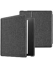 Fintie Kindle Oasis 第10世代 2019 Newモデル / 第9世代 2017 専用保護ケース 軽量 薄型 マグネット機能 オートスリープ機能 PUレザー 保護カバー 開閉式カバー(デニムグレー)