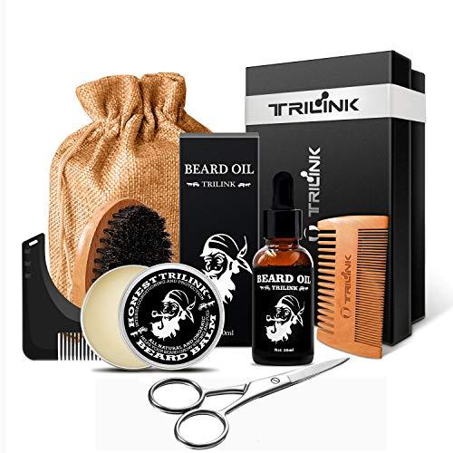 9. Kit de cuidado para barba:TriLink | Plantilla de moldeado con dientes y Tijeras de acero inoxidable.