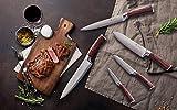 Wakoli Edib Damastmesser Santokumesser - sehr hochwertiges sehr scharfes Profi Santoku Messer mit Damast Klinge 17 cm, Küchenmesser, Kochmesser - 7