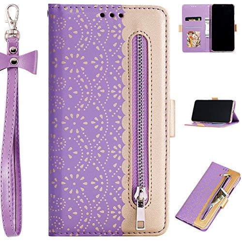 Diamant Funkeln Bling für iPhone 6S Plus iPhone 6 Plus,Glitzer BookStyle Slim Schutzhülle Flip Folio Wallet Stand Card Slots Pocket Leder Etui Hülle