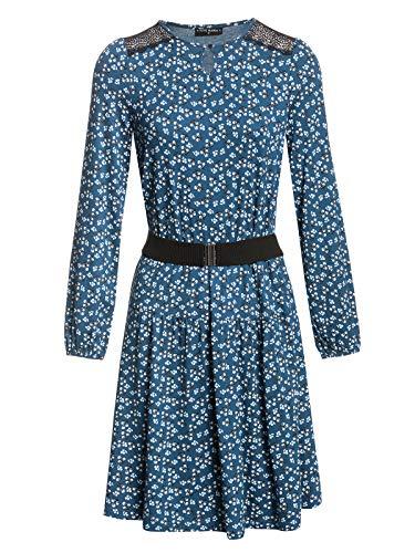 Vive Maria Blueberry Hill Dress Blue Allover, Größe:XXL