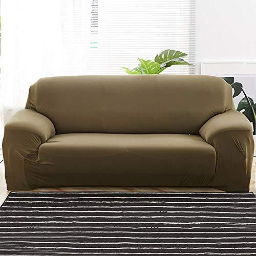 Fundas de Sofá Elásticas Mejoradas para Sofá de 2 Cojines para sala de estar,gruesas funda de sofá,funda para sofá de 1/2/3/4 plazas, protector de muebles suave y agradable para perros,beige(Colo