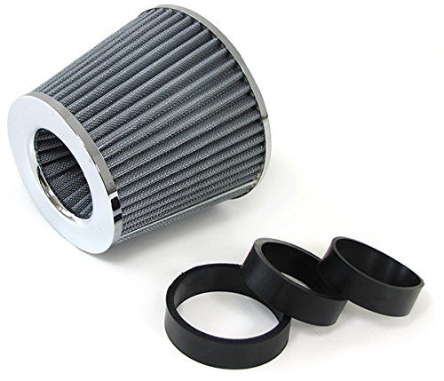 Preisvergleich Produktbild Carparts-Online 26472 Universal Sport Luftfilter Performance mit Adapter chrom silber