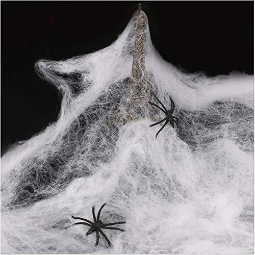 XDXDO 5Pcs Halloween Stretch Spinnennetze Spooky Spider Gurtband Mit Gefälschten Spinnen Für Halloween Dekorationen Innen- Und Außendekoration