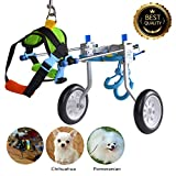 HiHydro Cart Pet Wheelchair for Handicapped Hind Legs Small Dog Cat /Doggie /Puppy walk Stainless Steel XXS