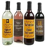 schluckt bis Sie Wobble–Thanksgiving Party Funny Wein Flasche Etiketten–Set von 4