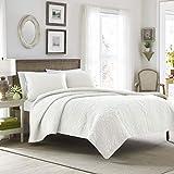 Laura Ashley Felicity Collection Quilt Set-100% Cotton,...