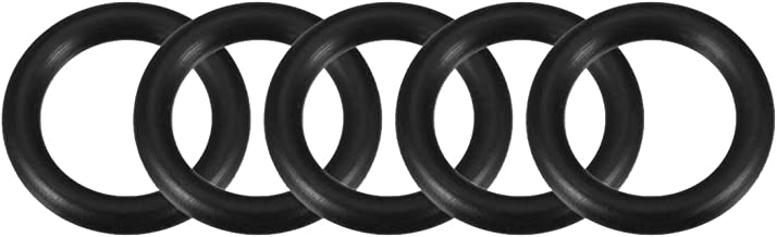 uxcell O-Rings Nitrile Rubber, 17mm Inner Diameter, 25mm OD, 4mm Width,Round Seal Gasket Pack of 5