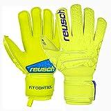 Reusch Fit Control S1 - Guanti da Portiere da Uomo, Uomo, 3970235, Lime/Safety Yellow, 11