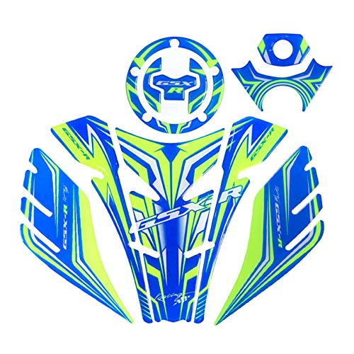 Accesorios de motocicleta Pegatina para depósito de combustible antideslizante para Suzuki GSX250-R motocicleta Gas Protector (Color: Verde)