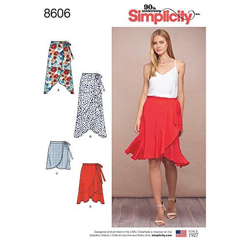 Simplicity Damen Rüschen Wickelrock Schnittmuster Größen 42-50