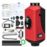maXpeedingrods Calefacción de Diesel12V 5KW, Calentador de Aire con Pantalla LCD, Calefacción Estacionaria con Control Remoto y Bajo Consumo para Coche SUV Furgoneta Automóvil Camiones Barco Autobús