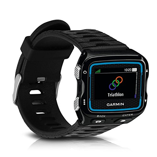 kwmobile Armband kompatibel mit Garmin Forerunner 920XT - Ersatzarmband Fitnesstracker - Fitness Band Silikon Schwarz