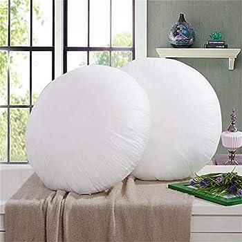 M&F 1 Pc 40cm Round White Cushion Pillow Interior Insert Soft PP Cotton for Home Decor Sofa Chair