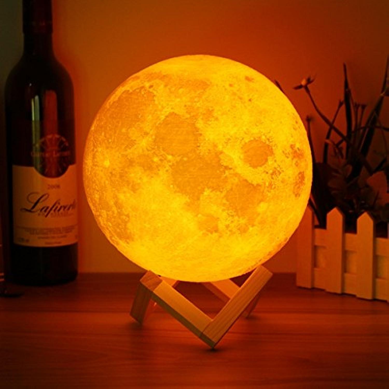 QIZIANG 20 cm 3D Magische Zwei Ton Mond Tischlampe USB USB USB Lade Luna LED Nachtlicht Touch Sensor Geschenk Hot B07L27W2YY | Moderater Preis  87f21f