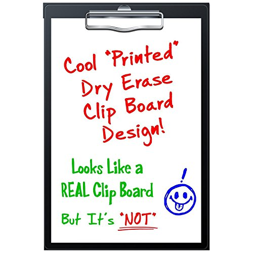 """Signs Authority Magnetic Dry Erase Fridge Magnet - """" Clip Board"""" Unlined Paper Design for Refrigerator - 8 x 12 inch - Reusable, Durable, Portable New Hampshire"""