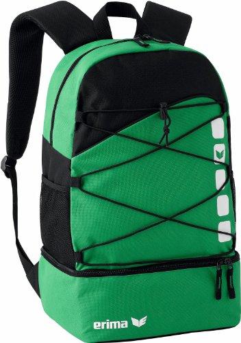 erima Multifunktionsrucksack mit Bodenfach, smaragd/schwarz, One size, 16 Liter, 723342