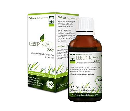 Leber-Kraft Daily - Bio Kräuter-Konzentrat mit Mariendistel, Kurkuma und Scharfgabe und weiteren wertvollen Leberkräutern 100 ml