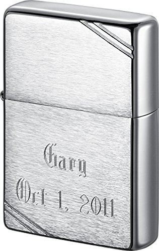 Personalized Zippo Vintage Brushed Chrome Lighter with Free Engraving