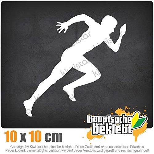 Läufer Marathon Sprint 10 x 10 cm IN 15 FARBEN - Neon + Chrom! Sticker Aufkleber