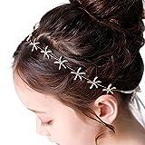Flower Girl Tiara Starfish Headband Bridal Headpiece Hair Accessories for Wedding Party