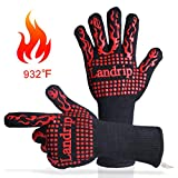Landrip BBQ Gloves, 932 ºF Extreme Heat Resistant Grill Gloves Kitchen Oven Mitts