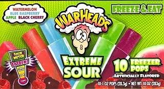 WarHeads Extreme Sour Freezer Pops 10 ct
