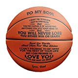 Engraved Basketball for Your Son You Will Never Lose (BKB - from Dad) Ideas for Men for Son