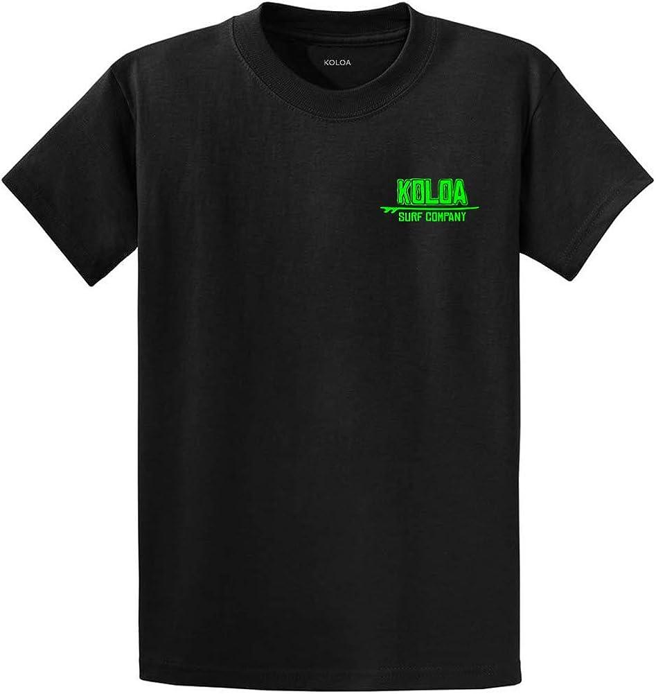 Koloa Surf Native Ride Heavyweight Cotton Tees-Tall-2XLT-Black/green