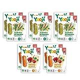 Yooji - Panier de Bâtonnets de Purées de Légumes Féculents et Fromages Bio pour le Repas de Bébé de 12 à 18 Mois - Alimentation Saine et Équilibrée - Saveur Chèvre pour 30 Repas