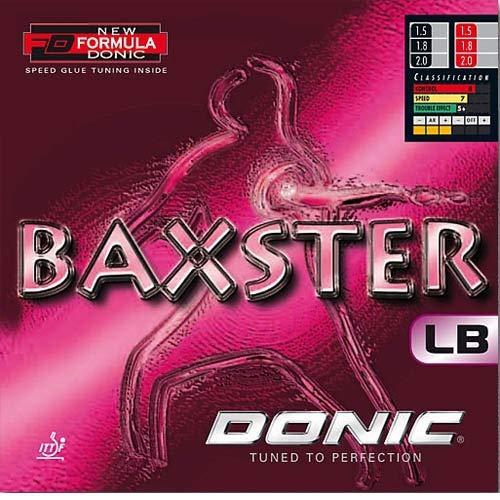 DONIC Belag Baxster LB Optionen 1,5 mm, schwarz