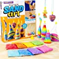 Made By Me Create Your Own Sand Art by Horizon Group Usa, DIY Kit Includes 4 Sand Bottles & 2 Pendent Bottles with 8 Bright Sand Colors, Designing Tool & More. Multicolored from Horizon Group