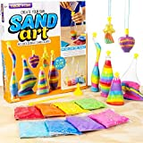 Made By Me Create Your Own Sand Art by Horizon Group Usa, DIY Kit Includes 4 Sand Bottles & 2 Pendent Bottles with 8 Bright Sand Colors, Designing Tool & More. Multicolored