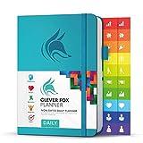 Clever Fox Planificador Diario - Mejor Agenda y Calendario Para Fomentar la Productividad y la Felicidad, y Lograr Tus Metas de 2019 - Organizador Personal - A5, Sin Fechas - Turquesa