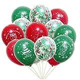 Hosdog Luftballons Merry Christmas, 30 Stück Latex-Luftballons für Neujahrsparty, Dekoration, langlebiger Ballon mit Weihnachtsbaum-Muster für Weihnachten, Partyzubehör.