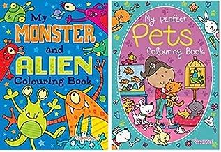 Squiggle Lot de 2 livres de coloriage pour enfants Format A4