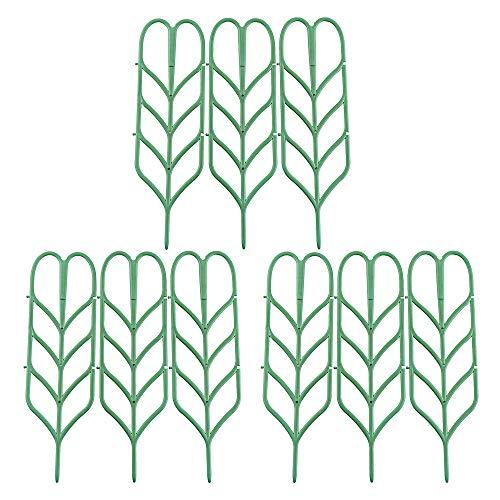 SUSUQI植物支柱九点セットフラワー支柱園芸ラック野菜花園芸スタンド耐用性プラスチック