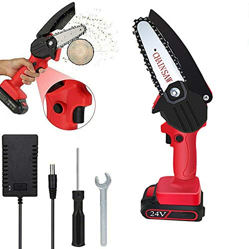 2000mAh Battery Mini Chainsaw - One-Handed Lightweight Cordless Pruning...