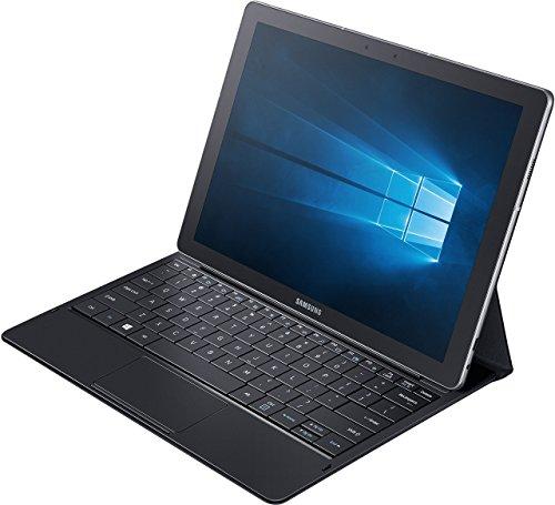 Samsung Galaxy TabPro S SM-W708 30,7 cm (12 Zoll) Tablet-PC (Intel Core m3-6Y30, 4GB RAM, 128GB SSD, LTE, Windows 10 Pro) schwarz inkl. Bookcover mit vollwertiger Tastatur sowie Touchpad