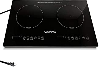 COOKPAD Electric Induction Cooktop with 2 Burner,1800W Double- Induction Stove Top,LED Lights