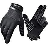 FREETOO Touch Screen Tactical Gloves Men Shooting Gloves Dexterous Wear-Resistant Military Gloves for Hunting Driving Airsoft, Large