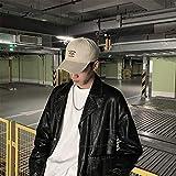 Aibccr Sombrero Gorras de Tendencia para Hombres Versión Coreana de la Tendencia de Gorra de béisbol Negra de Hip-Hop de la Marca de Moda Casual Salvaje para Hombres