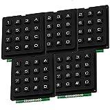 AZDelivery 5 x Modulo Teclado numerico de Matriz 4x4 keypad para Arduino con E-book incluido!